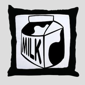 Milk Carton Throw Pillow