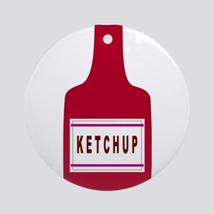Ketchup Bottle Ornament (Round)