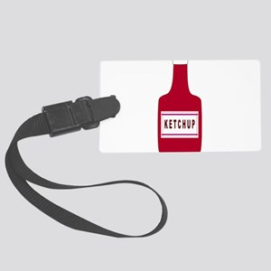 Ketchup Bottle Luggage Tag