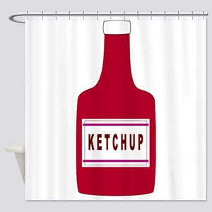 Ketchup Bottle Shower Curtain