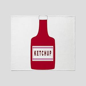 Ketchup Bottle Throw Blanket