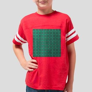 Fancy Green Art Pattern Youth Football Shirt