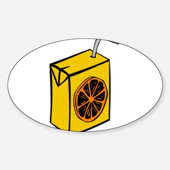 Orange Juice Box Decal