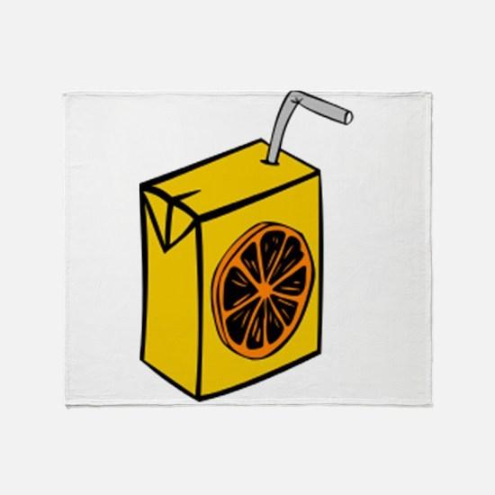Orange Juice Box Throw Blanket