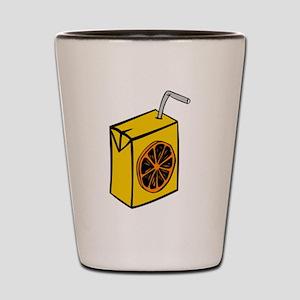 Orange Juice Box Shot Glass