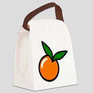 Orange Fruit Canvas Lunch Bag