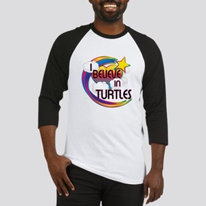 I Believe In Turtles Cute Believer Design Baseball
