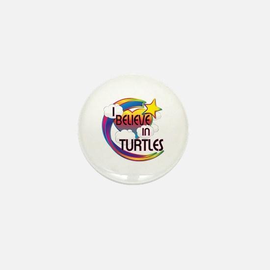 I Believe In Turtles Cute Believer Design Mini But