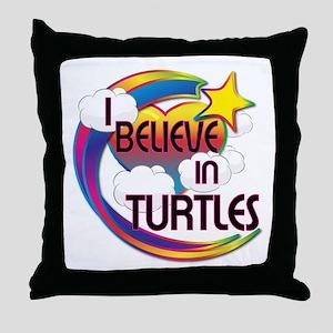 I Believe In Turtles Cute Believer Design Throw Pi