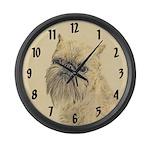 Brussels Griffon Large Wall Clock