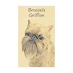 Brussels Griffon Sticker (Rectangle 10 pk)
