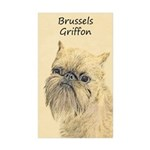 Brussels Griffon Sticker (Rectangle 50 pk)