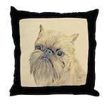 Brussels Griffon Throw Pillow