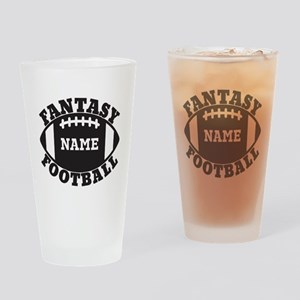 Personalized Fantasy Football Drinking Glass