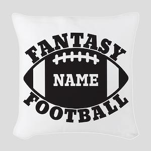 Personalized Fantasy Football Woven Throw Pillow