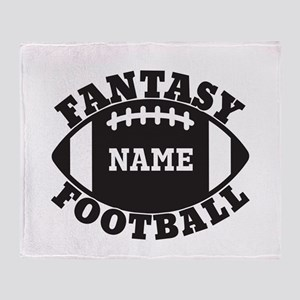 Personalized Fantasy Football Throw Blanket