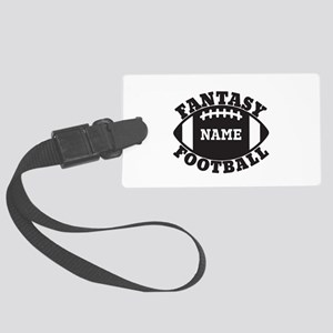 Personalized Fantasy Football Large Luggage Tag