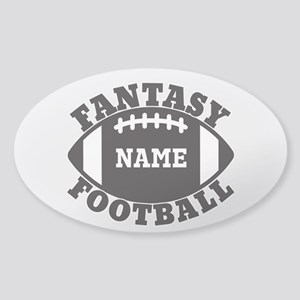 Personalized Fantasy Football Sticker (Oval)