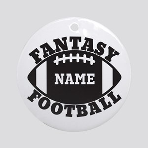 Personalized Fantasy Football Ornament (Round)