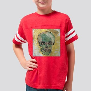 Van Gogh Skull Youth Football Shirt