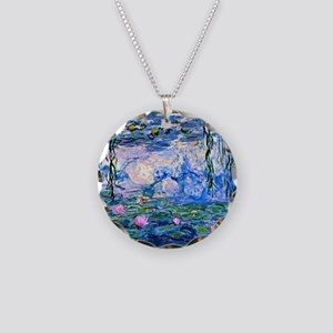 Monet - Water Lilies, 1919 Necklace Circle Charm