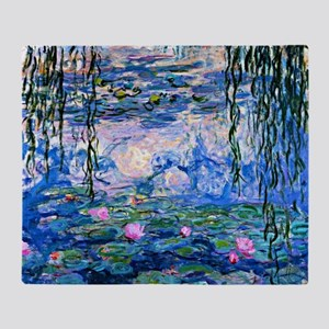 Monet - Water Lilies, 1919 Throw Blanket