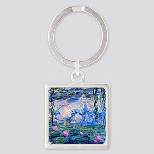 Monet - Water Lilies, 1919 Square Keychain