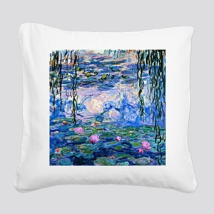 Monet - Water Lilies, 1919 Square Canvas Pillow