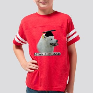 SamoyedGrad08 Youth Football Shirt