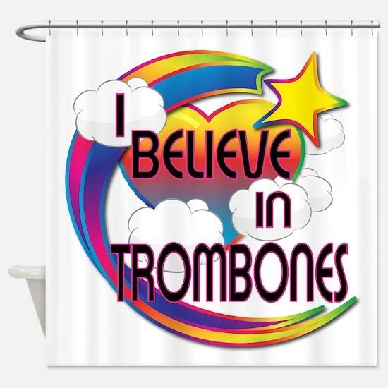 I Believe In Trombones Cute Believer Design Shower