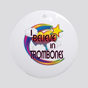 I Believe In Trombones Cute Believer Design Orname