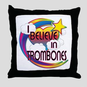 I Believe In Trombones Cute Believer Design Throw