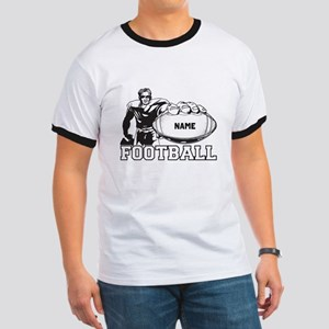 Personalized Football Player Ringer T