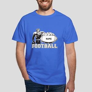 Personalized Football Player Dark T-Shirt