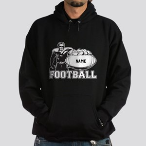 Personalized Football Player Hoodie (dark)
