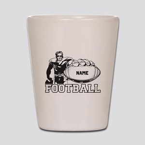 Personalized Football Player Shot Glass