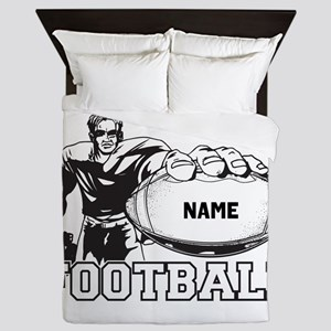 Personalized Football Player Queen Duvet