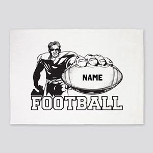 Personalized Football Player 5'x7'Area Rug