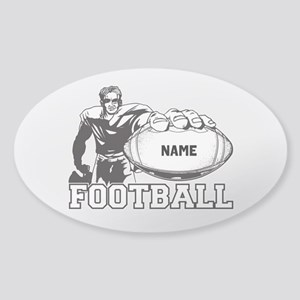 Personalized Football Player Sticker (Oval)