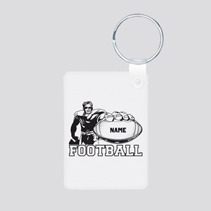 Personalized Football Player Aluminum Photo Keycha