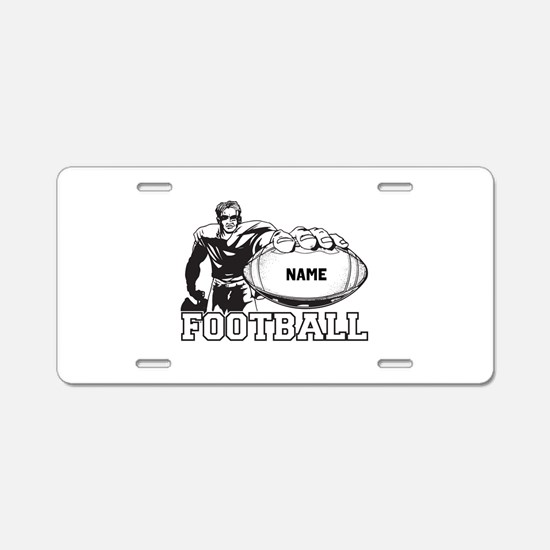 Personalized Football Player Aluminum License Plat