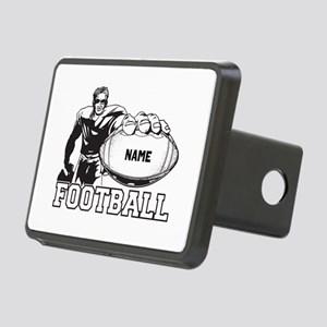 Personalized Football Player Rectangular Hitch Cov