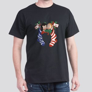 Vintage Christmas Stockings T-Shirt