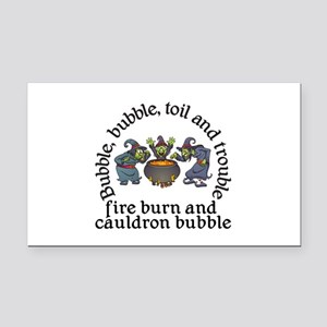 Witch Cauldron Halloween Rectangle Car Magnet