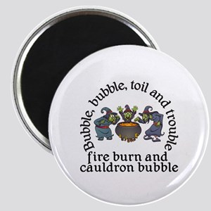 Witch Cauldron Halloween Magnets