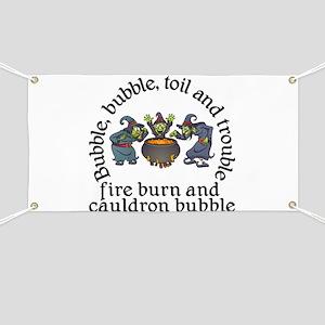 Witch Cauldron Halloween Banner