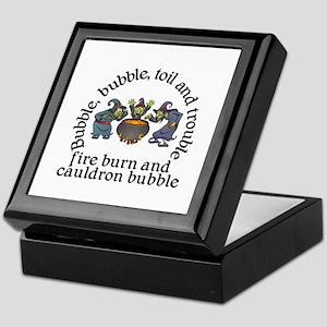 Witch Cauldron Halloween Keepsake Box