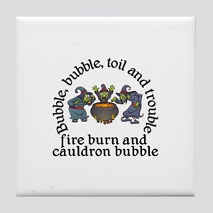 Witch Cauldron Halloween Tile Coaster