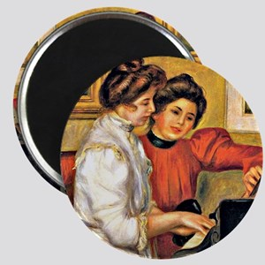 Young Girls at the Piano, Renoir painting Magnet
