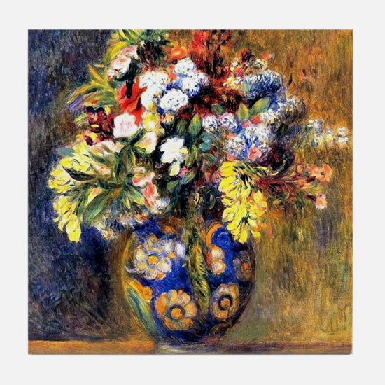 Renoir: Flowers in a Vase Tile Coaster